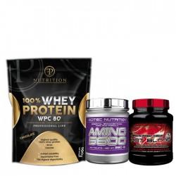 Προσφορά Scitec Hot Blood 300gr + Scitec Amino 5600 200Caps + PF Nutrition WPC 80% 1000Gr