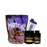 Προσφορά όγκου Syntrax Matrix 2.270 Kg + Pf Creatine Pure 500Gr + Pf Tribulus 90 Caps + Shaker