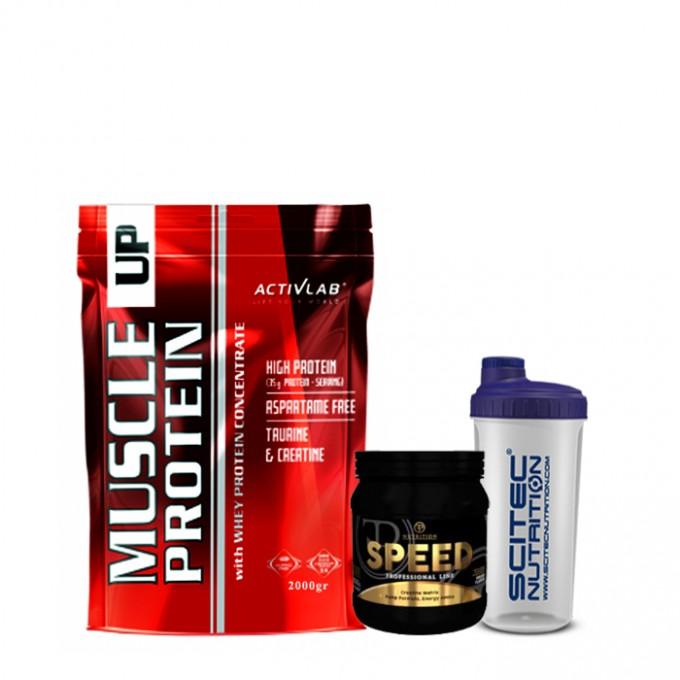 Προσφορά όγκου Muscle Up 70% 2000Gr + PF Speed 500gr + Shaker