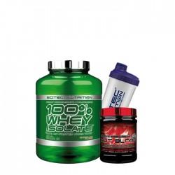 Προσφορά γράμμωσης Scitec 100% Whey Isolate 2000G + Scitec Hot Blood 300G + Δώρο Shaker