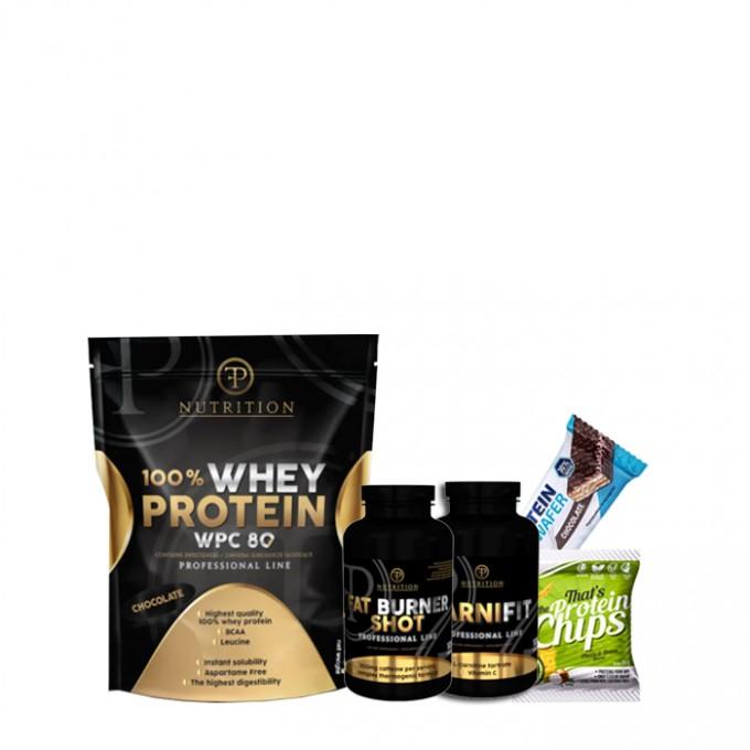 Προσφορά γράμμωσης Pf Nutrition Wpc 80 900gr + Pf Fat Burner Shot 100 Tab + Pf Nutrition Carnifit 100 caps + Δώρο Chips + Δώρο Protein Wafer