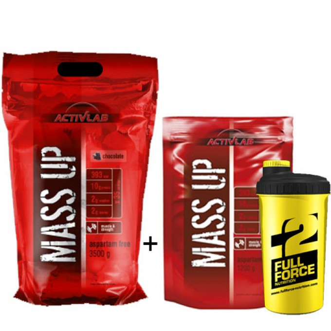 Προσφορά Activlab Mass Up 3500Gr + Δωρο Activlab Mass Up 1200Gr + Δωρο Shaker