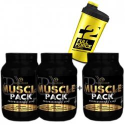 Προσφορά Pf Nutrition Muscle Pack 2Kg - 2 Temaxia + 1 Δωρο X 2Kg + Δωρο Shaker