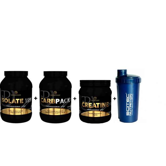 Προσφορά Recovery Stack - Pf Isolate 920 GR + Carbpack 1,5 KL + Creatine Monohdrate 500 GR + Shaker