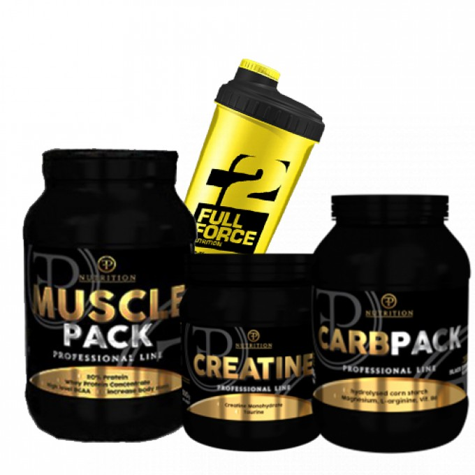 Προσφορά Muscle Pack 2000Gr + Pf Nutrition Carbpack 1500Gr + Creatine Pure 500Gr + Shaker