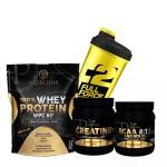 Προσφορά Pf Nutrition Whey Protein 900Gr + Bcaa 8-1-1 400Gr + Creatine Pure 500Gr + Δωρο Shaker