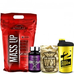 Προσφορά Activlab Mass Up 3500Gr  + Scitec Bcaa-X 120Caps + War Machine 350Gr + Δωρο Shaker
