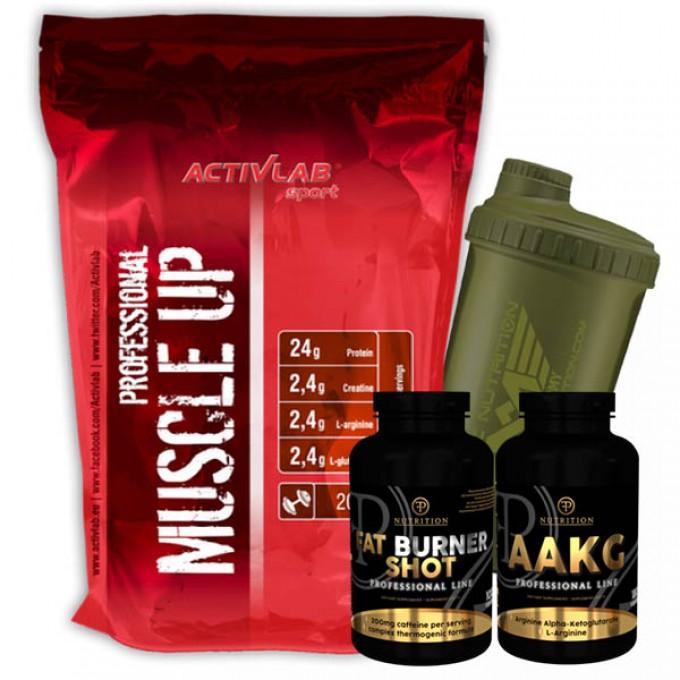 Προσφορά Activlab Muscle Up  2000Gr + Pf Fat Burner Shot 100Tabs + Pf Aakg 180Tabs + Shaker