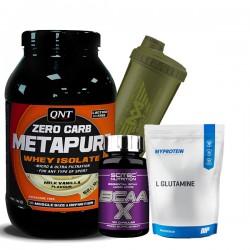 Προσφορά Qnt Zero Carb Metapure 2000Gr + Scitec Bcaa-X 120Caps + My Protein L-Glutamine 250Gr + Shaker