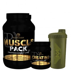 Προσφορά Muscle Pack 2 Kg + Creatine Pure 100% 500 Gr  + Shaker