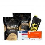 Προσφορά P.F Nutrition - Whey Wpc 80 X 2 900 Gr + Megabol - Testosterol + Megabol - Biosterol + Shaker