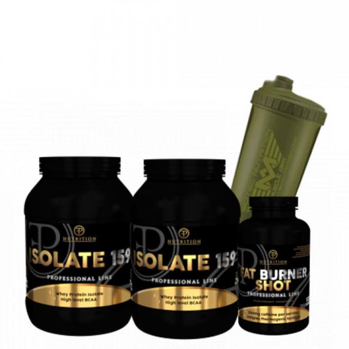 Προσφορά Pf Nutrition Isolate 159 2 X 908Gr +  Pf Fatburner 100 Tabs + Δωρο Shaker