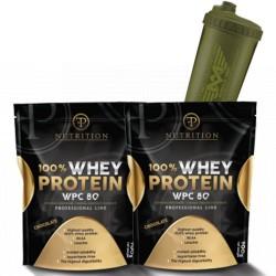Προσφορά Pf Nutrition Whey Protein - 2 Χ  900Gr + Δωρο Shaker