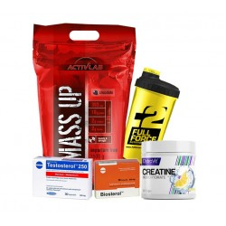 Προσφορά Mass Up 3500Gr+Creatine Monohydrate 300Gr - Lemon+Biosterol 36Caps+Megabol Testosterol 250 (30Caps)+Δωρο Shaker